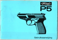 Dutch Police Walther P5 manual early