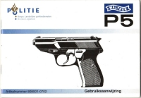 Dutch Police Walther P5 manual late