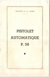 French P38 manual from 1950