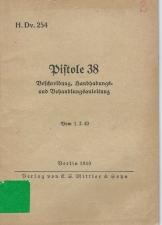 German P38 manual H.dV. 254 (1940)