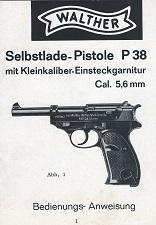 Manual Walther P38 5.6mm caliber conversion set