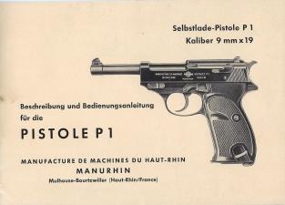Manurhin manual Pistole P1