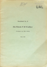 German Walther P38 Manual from 1959 Merkblatt Nr.11