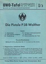 OWO Tafel Walther P38 manual