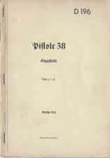 P38 manual Spare Parts Einzelteile 1941
