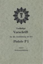 Manurhin P1 manual for Berlin Police 1965 Schutzpolizei