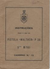 Portuguese Walther P38 manual GNR M/961