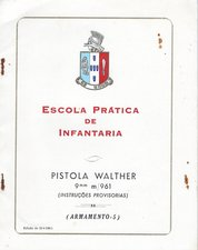 Portuguese Walther P38 M/961 manual Infantry from 1966