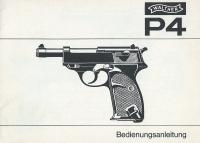 Walther P4 manual German