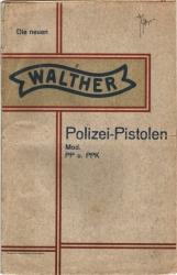 Walther PP PPK manual prewar ww2 early polizei pistole