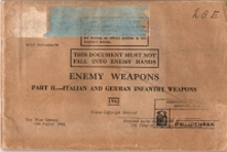 English manual Enemy weapons 1942