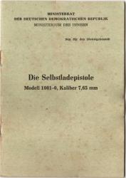 manual selbstladepistol Modell 1001 PPK East Germany