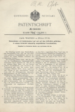 Carl Walther Patent Germany #256606