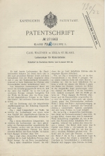 Carl Walther Patent Germany #271863