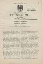 Carl Walther Patent Germany #333248