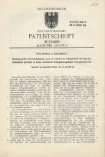 Carl Walther Patent Germany #334448