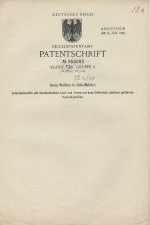 Carl Walther Patent Germany #355093