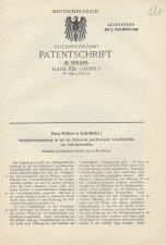 Carl Walther Patent Germany #365265
