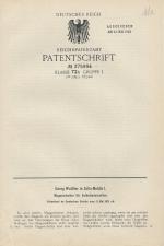 Carl Walther Patent German #375994