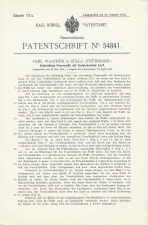 Carl Walther Patent Austria #54841