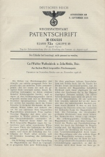 Carl Walther Patent Germany 664926 P38