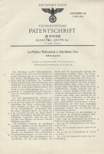 Carl Walther Patent Germany #678066