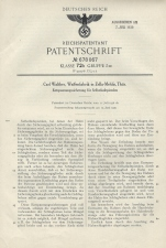 Carl Walther Patent Germany 678067 P38