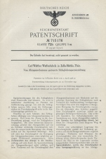 Carl Walther Patent Germany 715176 P38