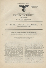 Carl Walther Patent Germany 721702 P38