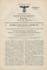 Carl Walther Patent German #722332