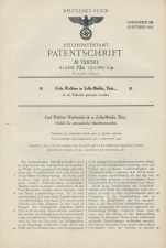 Carl Walther Patent Germany 726501 P38