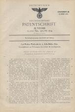 Carl Walther Patent German #733068
