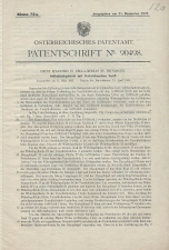 Carl Walther Patent Austrian #90498