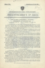 Carl Walther Patent Austrian #92672