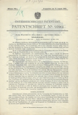 Carl Walther Patent Austrian #93961
